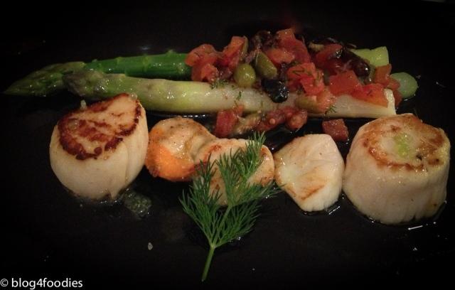 2 - La Ciboulette - scallops asparagus