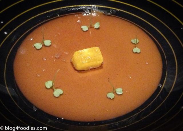Cubalibre de Foie Gras with lemon granité and rocket