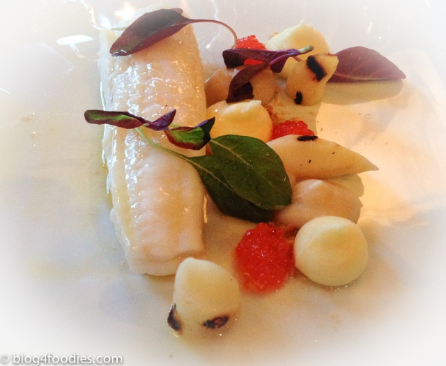 Poached lemon sole