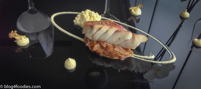 Red mullet, spider crab and cauliflower