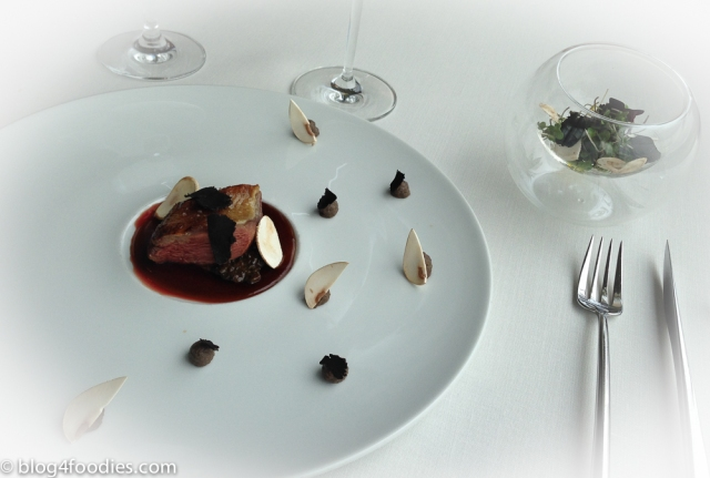 Pigeon, deuxelle and truffle