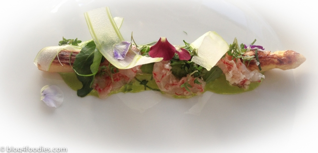 White Asparagus | Flat Shrimp | Cress