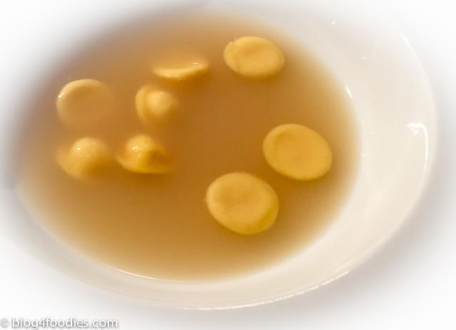 Ravioli in onion reduction