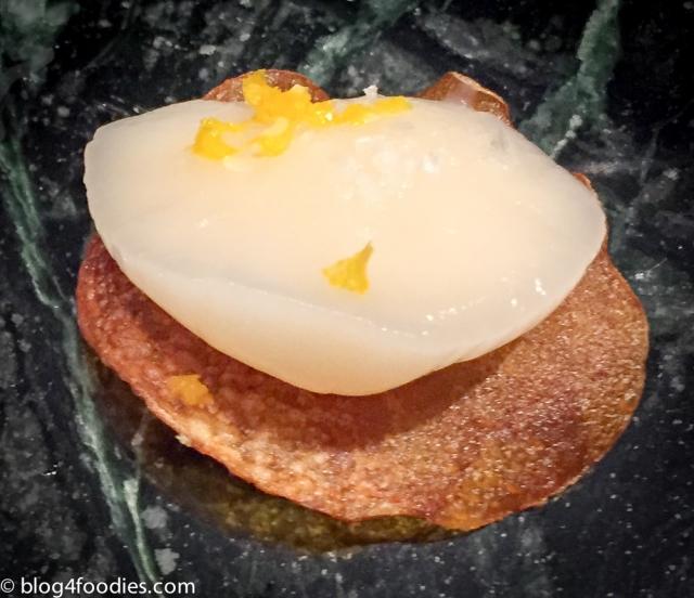 Potato. Butter. Scallop. Yuzu.