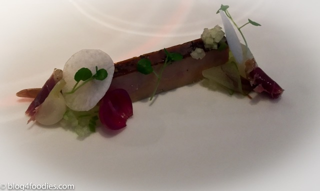 Foi gras with green apples