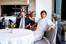 Geranium 19-Søren Ledet - Wine & Restaurant Director, Co-owner(left) Rasmus Kofoed, Head Chef, Co-owner (right)