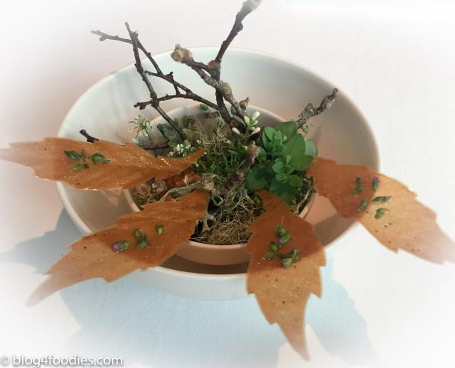 Jerusalem Artichoke Leaves, Walnut Oil & Rye Vinegar