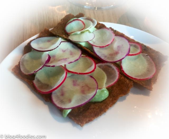 Radishes on crispbread