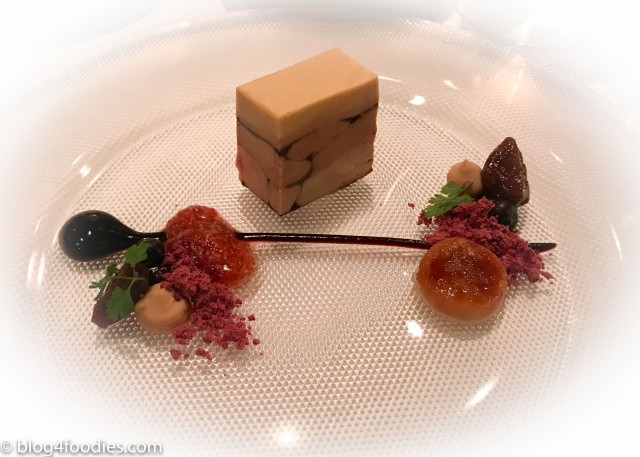 Creation of goose foie gras with wild fig and old balsamico